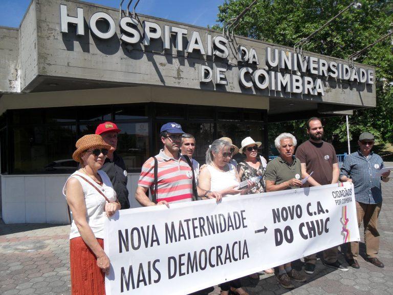 """Rádio Regional do Centro: CpC foi à porta dos HUC dizer """"basta de conversa fiada"""""""