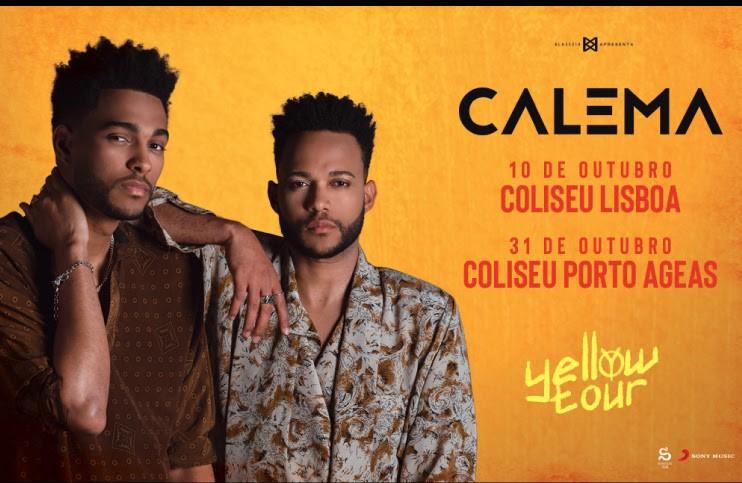 """Rádio Regional do Centro: Calema arrancam em Outubro com a """"Tour Yellow"""" em Lisboa e no Porto"""