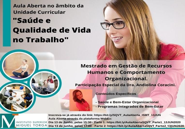 """Rádio Regional do Centro: ISMT promove, amanhã, Webinar sobre """"Saúde e Qualidade de Vida no Trabalho"""""""