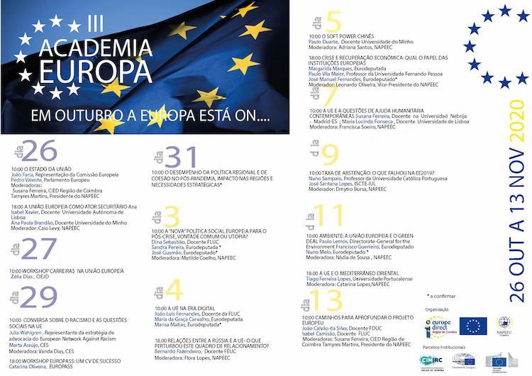 Rádio Regional do Centro: Núcleo Associativo para os Estudos Europeus em Coimbra com III Academia Europa