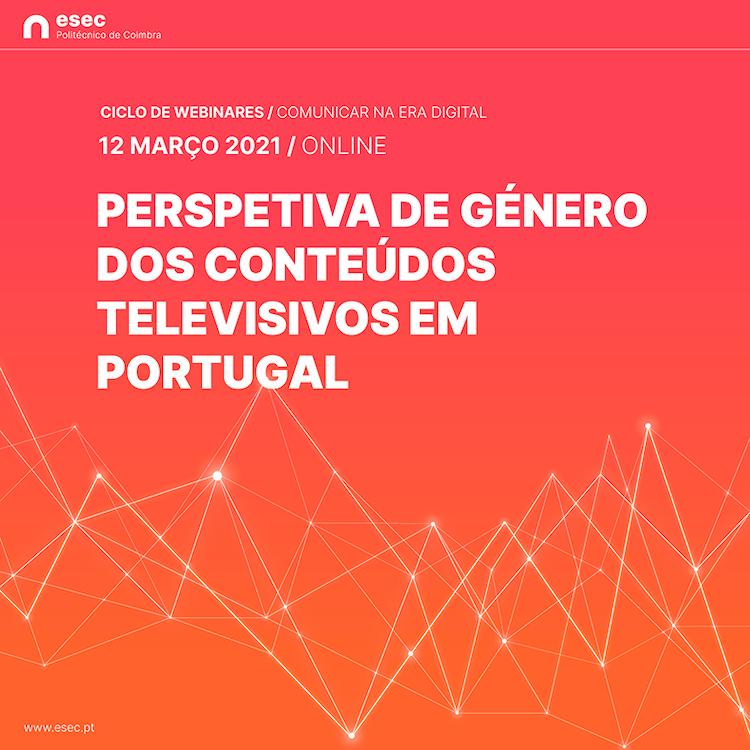 """Rádio Regional do Centro: ESEC prepara webinar sobre """"Perspectiva de género dos conteúdos televisivos"""""""