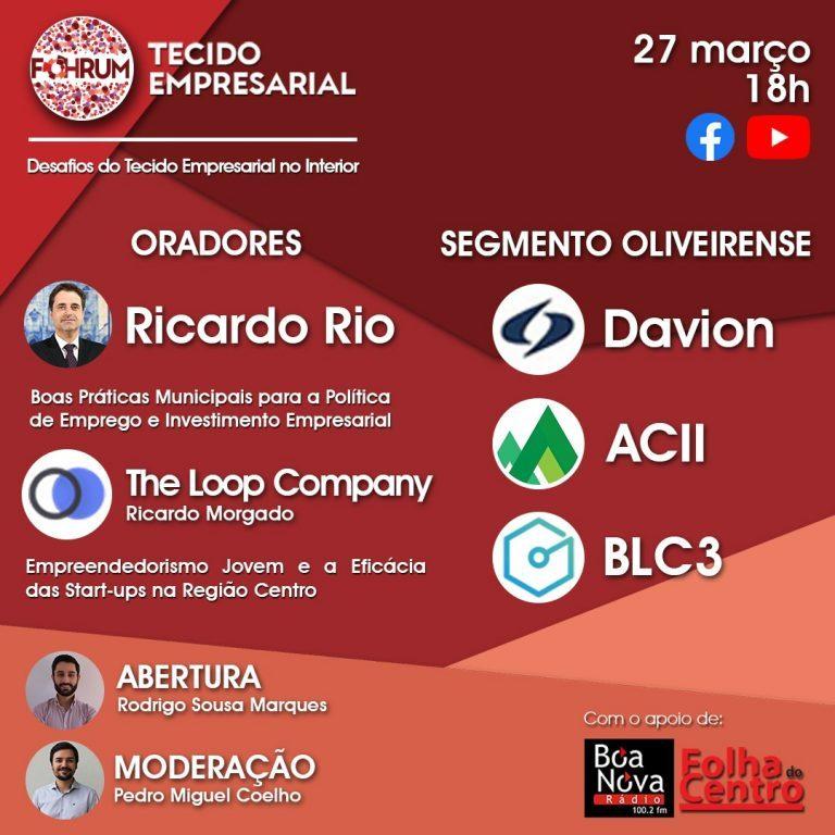Rádio Regional do Centro: Futuro do tecido empresarial em Oliveira do Hospital discutido online