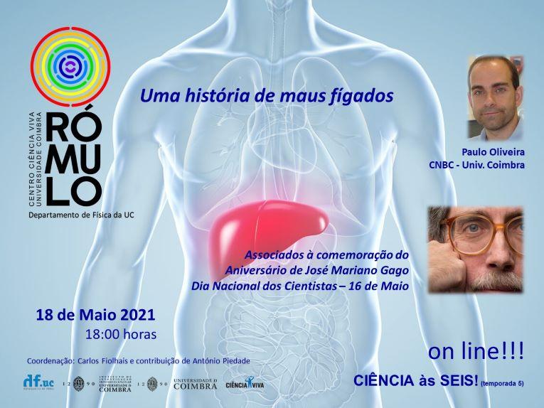 """Rádio Regional do Centro: """"Ciência às Seis! no Rómulo: Paulo Oliveira fala sobre fígado gordo"""