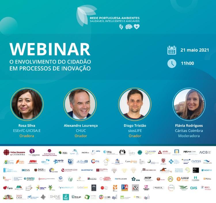 Rádio Regional do Centro: Rede de Ambientes Saudáveis com palestra sobre ligação do cidadão na inovação