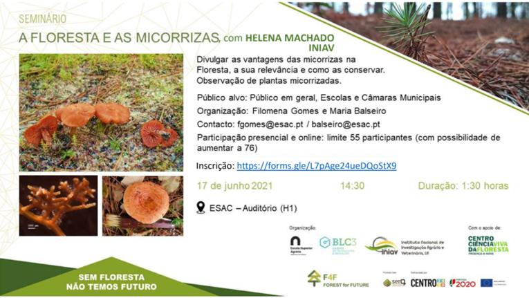 """Rádio Regional do Centro: ESAC acolhe seminário subordinado ao tema """"A floresta e as micorrizas"""""""