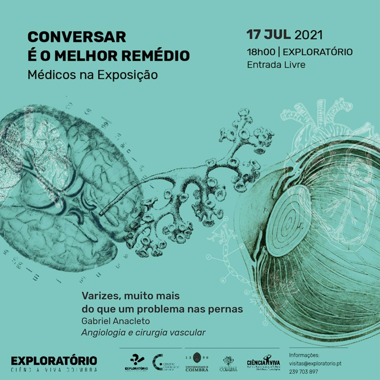 Rádio Regional do Centro: Exploratório vai receber Gabriel Anacleto numa conversa sobre varizes