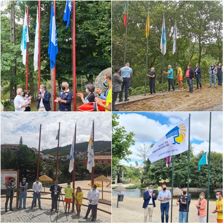 Rádio Regional do Centro: Oliveira do Hospital abre época balnear com hastear de bandeiras