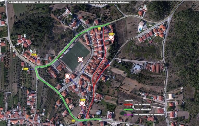 Rádio Regional do Centro: Cernache: Urbanização e Rua da Moita Santa com trânsito cortado até 9 de julho