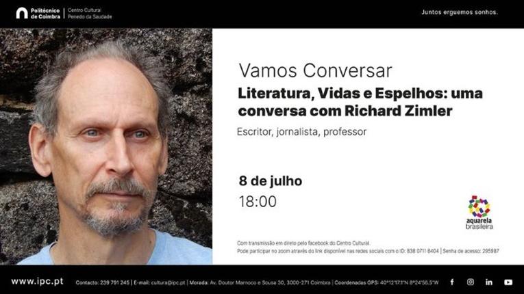 """Rádio Regional do Centro: IPC: """"Vamos conversar"""" com Richard Zimler no Centro Cultural Penedo da Saudade"""