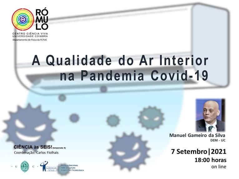 """Rádio Regional do Centro: CIÊNCIA ÀS SEIS! no RÓMULO apresenta """"A Qualidade do Ar Interior na Pandemia Covid-19"""""""