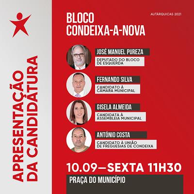 Rádio Regional do Centro: Bloco de Esquerda apresenta candidatos a Condeixa-a-Nova