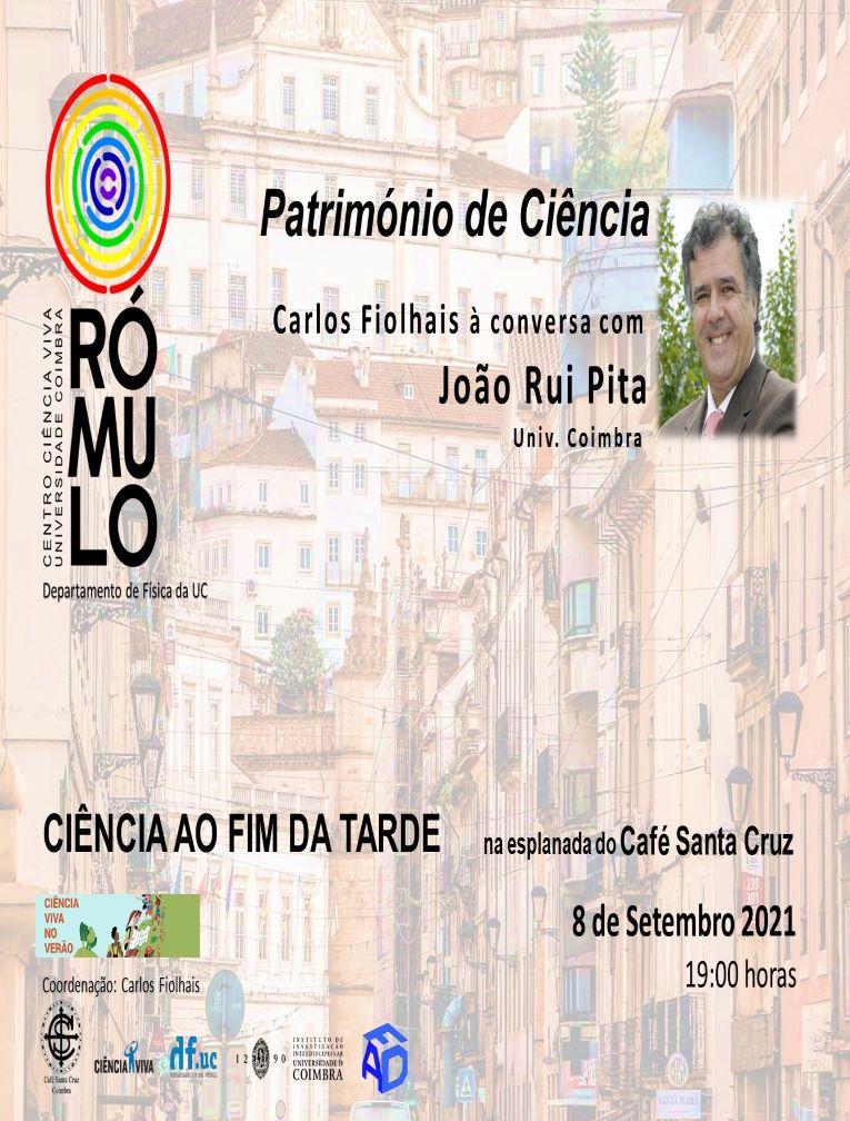 Rádio Regional do Centro: João Rui Pita vai estar à conversa com Carlos Fiolhais no Café Santa Cruz