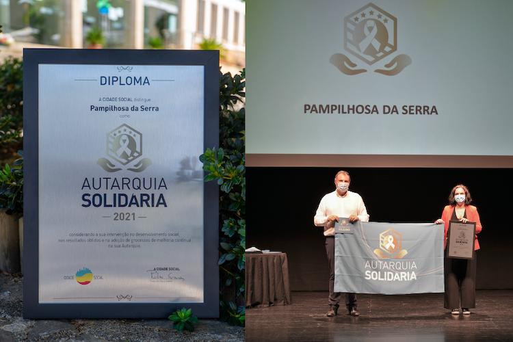 """Rádio Regional do Centro: Câmara de Pampilhosa da Serra premiada com galardão e bandeira """"Autarquia Solidária"""""""