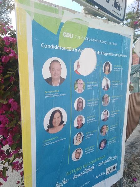 Rádio Regional do Centro: CDU da Figueira da Foz com propaganda vandalizada em Quiaios