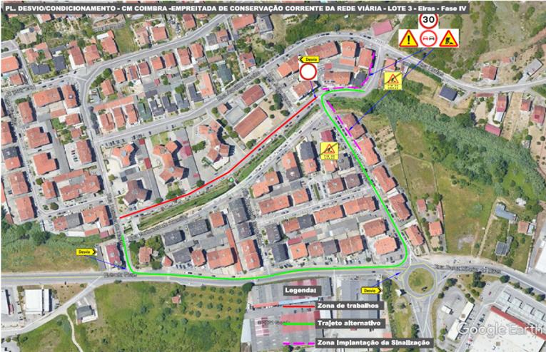 Rádio Regional do Centro: CM Coimbra inicia requalificação de vias no Bairro de Sta. Apolónia e condiciona o trânsito
