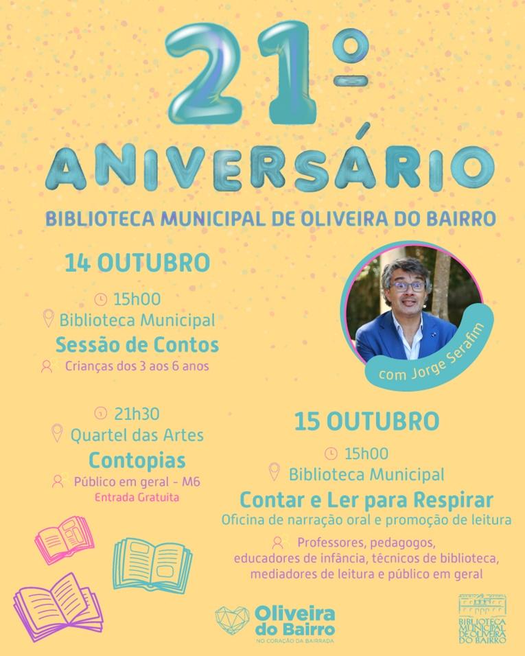 Rádio Regional do Centro: Jorge Serafim no 21.º aniversário da Biblioteca Municipal de Oliveira do Bairro