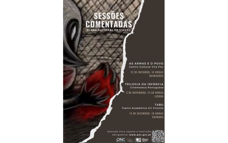 Rádio Regional do Centro: Plano Nacional de Cinema realiza sessões comentadas em Guimarães, Lisboa e Coimbra
